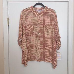 3XL LuLaRoe Amy Shirt DD32 1888